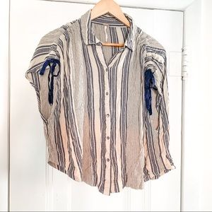 Free People button-up blouse size M